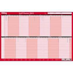Office Depot Staff Wall Planner 2019 Red
