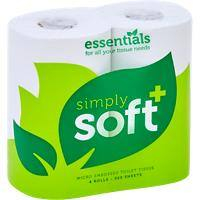 essentials Toilet Rolls Simply-Soft 2 Ply 36 Rolls of 320 Sheets