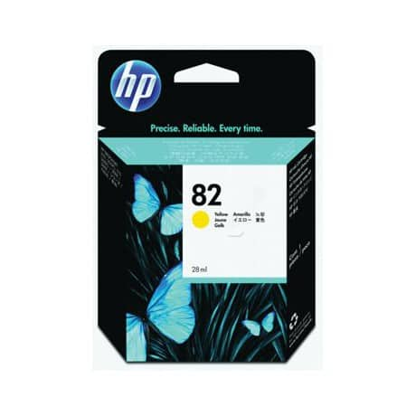 HP 82 Original Yellow Ink Cartridge CH568A