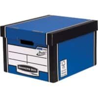 Fellowes Bankers Box Premium Classic Archive Boxes PRESTO Blue 257 x 342 x 400 mm Pack of 10