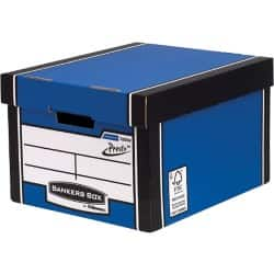 Fellowes Bankers Box Presto Classic Storage Box A4 Blue/ White - Pack of 10