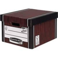 Fellowes Bankers Box Premium Classic Archive Boxes PRESTO Woodgrain 257 x 342 x 400 mm Pack of 10