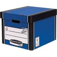 BANKERS BOX Premium Tall Archive Boxes Blue 34.2 x 40 x 30.3 cm 10 Pieces