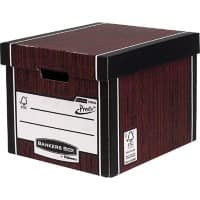 BANKERS BOX Premium Tall Archive Boxes Woodgrain 34.2 x 40 x 30.3 cm 10 Pieces