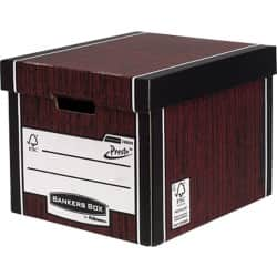 Fellowes Bankers Box Presto Tall Storage Box A4 Wood Grain - Pack of 10