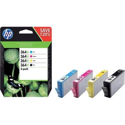HP 364XL Original Ink Cartridge N9J74AE Black & 3 Colours Pack of 4