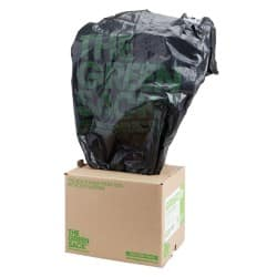 The Green Sack heavy-duty compactor sacks black 1168 x 864 mm (h x w) 15 kg capacity 40 per box