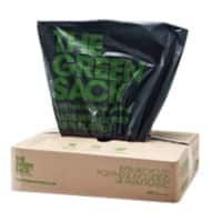 The Green Sack medium-duty refuse sacks black 965 x 737 mm (h x w) 10 kg capacity 200 per box
