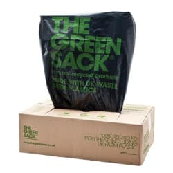 The Green Sack heavy-duty refuse sacks black 965 x 737 mm (h x w) 15 kg capacity 200 per box
