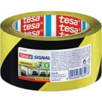 tesapack Marking Tape Signal 50 mm x 66 m Yellow,Black