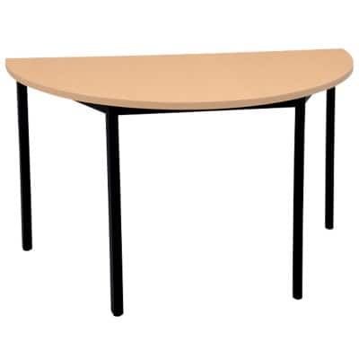 Niceday Circular Meeting Room Table 1200 mm Beech