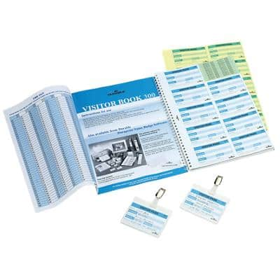 DURABLE Visitor Book Refill Pad 1466/00 White Ruled Perforated A4 6 x 9 cm 30 Sheets of Pack of 10