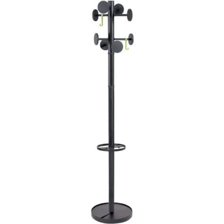 Alba Coat Stand Stand Black  8 Pegs 1760 H