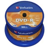 Verbatim DVD-R 16x 4.7 GB 50 Pieces