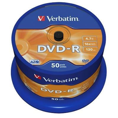 Verbatim DVD-R 16x 4.7 GB OPS Spindle 50 Pieces