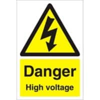 Warning Sign High Voltage PVC 30 x 20 cm