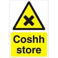 Warning Sign Coshh Store Fluted Board 30 x 20 cm