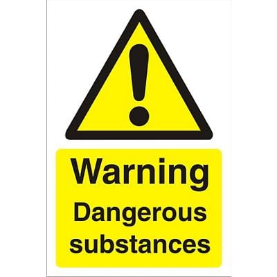 Warning Sign Dangerous Substances PVC 60 x 40 cm
