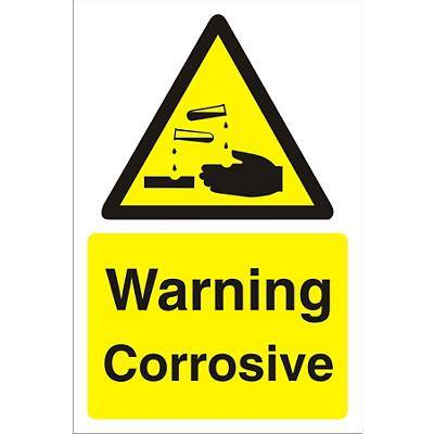 Warning Sign Corrosive PVC 30 x 20 cm