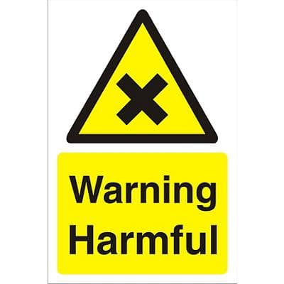 Warning Sign Harmful PVC 30 x 20 cm