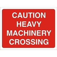 Site Sign Heavy Machinery PVC 30 x 40 cm