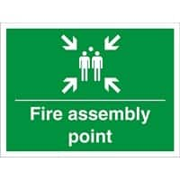 Construction Sign Assembly Point Fluted Board 30 x 40 cm