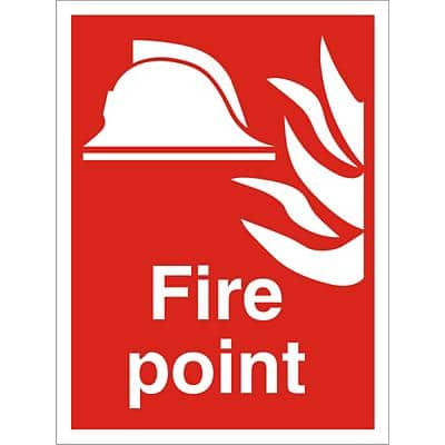 Fire Sign Fire Point PVC 30 x 20 cm