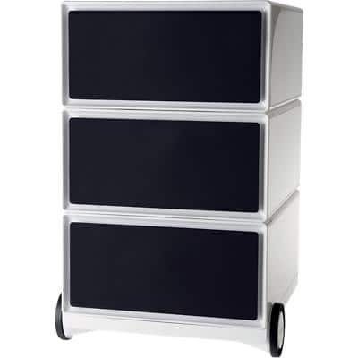 Paperflow Pedestal with 3 Drawers Polystyrene & ABS 390 x 436 x 642mm Black