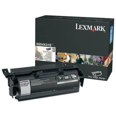 Lexmark X654X31E Original Toner Cartridge Black