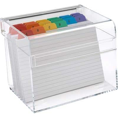 Osco Card Index Box Transparent 13.5 x 10 x 10 cm