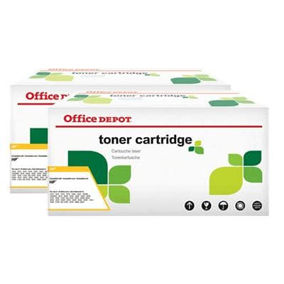 Compatible Office Depot HP 05X Toner Cartridge CE505XD Black Pack of 2