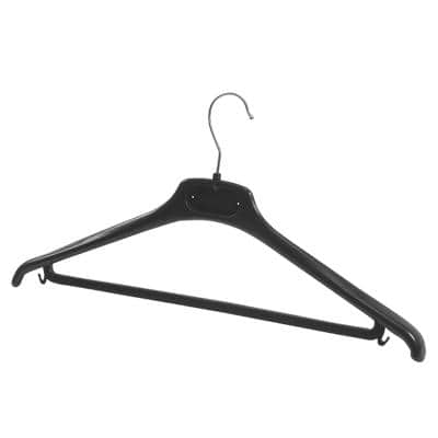 Alba Hangers PMBASIC PL Plastic 450 x 220mm Black Pack of 20