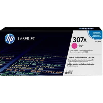HP 307A Original Toner Cartridge CE743A Magenta
