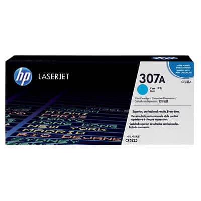 HP 307A Original Toner Cartridge CE741A Cyan