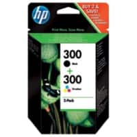 HP 300 Original Ink Cartridge CN637EE Black & 3 Colours Pack of 2