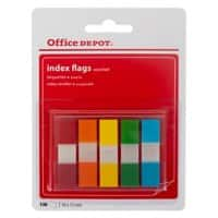 Office Depot Index Flags 12 x 45 mm Assorted 20 x 5 Pack