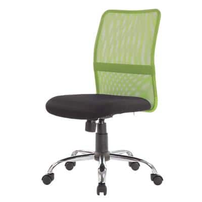 Niceday Basic Tilt Ergonomic Office Chair with Optional Armrest and Adjustable Seat Ness Green & Black