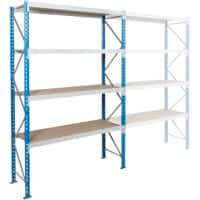 ARNO SPACE Starting Bay 3 Wide Span Shelves Blue, Grey 1,800 x 600 x 2,500 mm