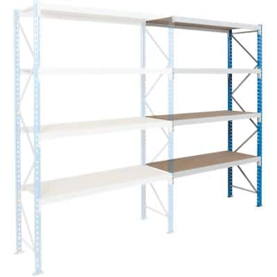 ARNO SPACE Following Bay 3 Wide Span Shelves Blue, Grey 1,800 x 600 x 2,500 mm