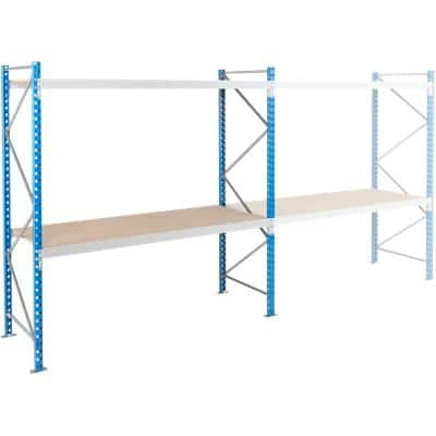 ARNO SPACE Starting Bay 2 Wide Span Shelves Blue, Grey 1,800 x 800 x 2,000 mm