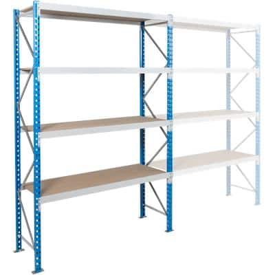 ARNO SPACE Starting Bay 3 Wide Span Shelves Blue, Grey 1,800 x 800 x 2,500 mm