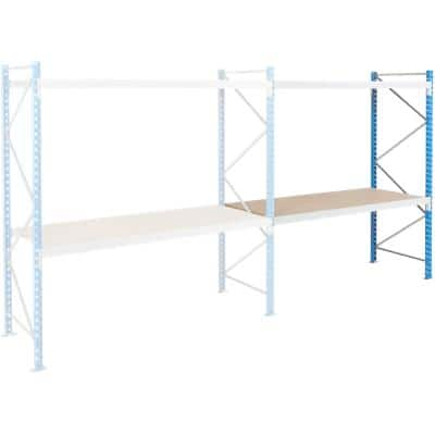ARNO SPACE Following Bay 2 Wide Span Shelves Blue, Grey 1,800 x 600 x 2,000 mm