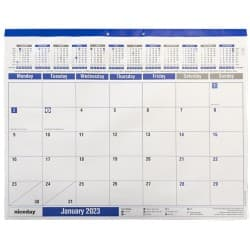 Niceday Desk Calendar 2019 White