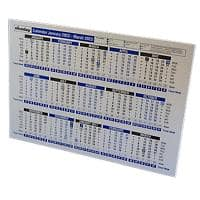 Niceday Desk Calendar A4 2020, 2021 Blue & White