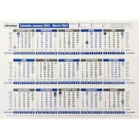 Niceday Desk Calendar A4 15 Month A4 2021/2022 White
