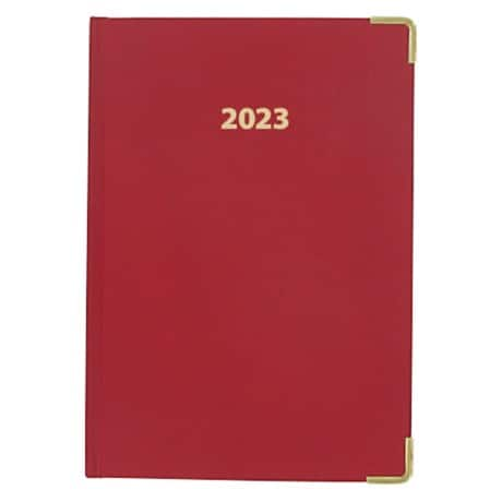 Office Depot Diary A5 Week to view 2019 Red