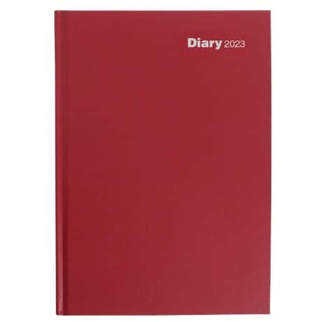 Niceday Day Per Page Diary A4 2019 Burgundy