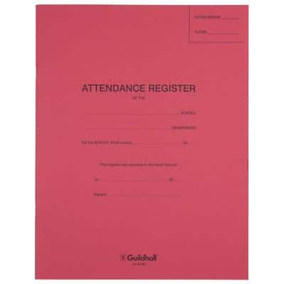 Guildhall Exercise Books Red Ruled 12 Sheets