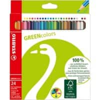 STABILO Colouring Pencils Green Colors Assorted Pack of 24