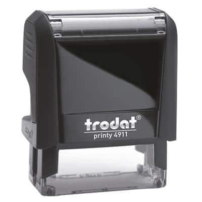 Trodat Custom Text Stamp 4911 Black 2.2 x 2.2 x 5.8 cm